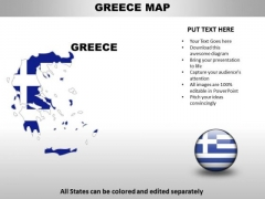 Country PowerPoint Maps Greece