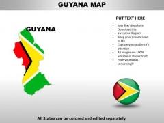 Country PowerPoint Maps Guyana