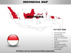 Country PowerPoint Maps Indonesia