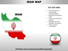 Country PowerPoint Maps Iran