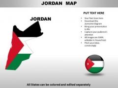 Country PowerPoint Maps Jordan