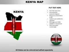Country PowerPoint Maps Kenya