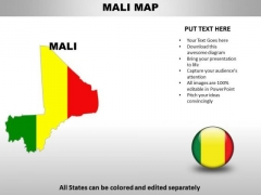 Country PowerPoint Maps Mali