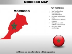 Country PowerPoint Maps Morocco