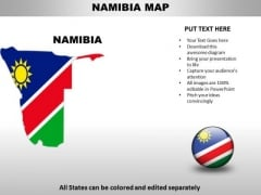 Country PowerPoint Maps Namibia