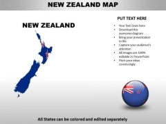 Country PowerPoint Maps New Zealand