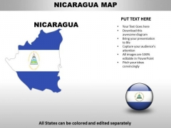 Country PowerPoint Maps Nicaragua