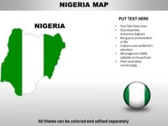 Country PowerPoint Maps Nigeria