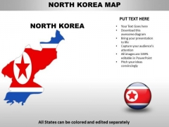Country PowerPoint Maps North Korea