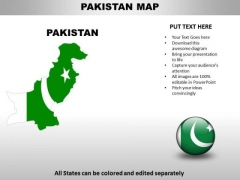 Country PowerPoint Maps Pakistan