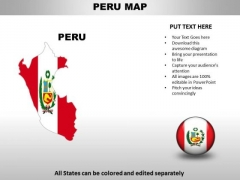 Country PowerPoint Maps Peru