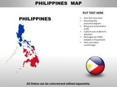 Country PowerPoint Maps Philippines
