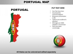 Country PowerPoint Maps Portugal