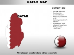 Country PowerPoint Maps Qatar