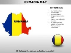Country PowerPoint Maps Romania
