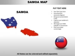 Country PowerPoint Maps Samoa