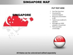Country PowerPoint Maps Singapore