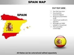 Country PowerPoint Maps Spain
