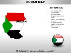 Country PowerPoint Maps Sudan