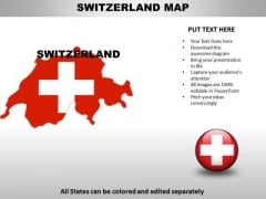 Country PowerPoint Maps Switzerland