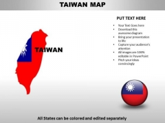 Country PowerPoint Maps Taiwan