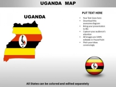 Country PowerPoint Maps Uganda