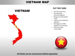 Country PowerPoint Maps Vietnam