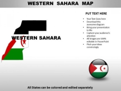 Country PowerPoint Maps Western Sahara
