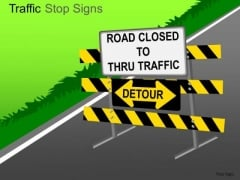 Countryside Traffic Stop PowerPoint Slides And Ppt Diagram Templates