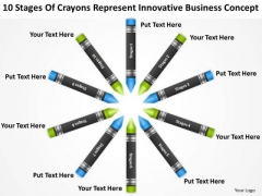 Crayons Represent Innovative Business Concept Ppt How To Type Plan PowerPoint Slides