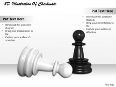 Creative Marketing Concepts 3d Illustration Of Checkmate Business Clipart Images