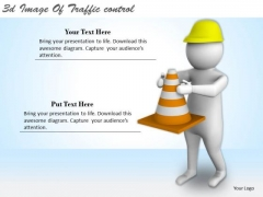 Creative Marketing Concepts 3d Image Of Traffic Control Character Modeling