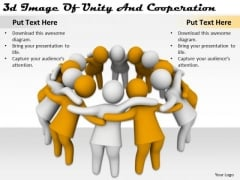 Creative Marketing Concepts 3d Image Of Unity And Cooperation Character Modeling