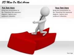 Creative Marketing Concepts 3d Man Red Arrow Adaptable Business