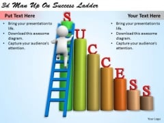 Creative Marketing Concepts 3d Man Up Success Ladder Business Statement