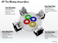 Creative Marketing Concepts 3d Team Meeting Around Gears Adaptable Business