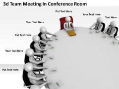 Creative Marketing Concepts 3d Team Meeting Conference Room Character