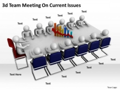 Creative Marketing Concepts 3d Team Meeting Current Issues Character