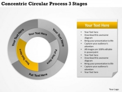 Creative Marketing Concepts Concentric Circular Process 3 Stages It Business Strategy