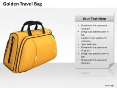 Creative Marketing Concepts Golden Travel Bag Best Stock Photos
