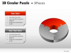 Creativity 3d Circular Puzzle 3 Pieces PowerPoint Slides And Ppt Diagram Templates