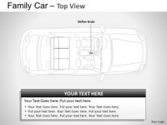 Crossroad Red Family Car PowerPoint Slides And Ppt Diagram Templates