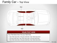 Crossway Red Family Car PowerPoint Slides And Ppt Diagram Templates
