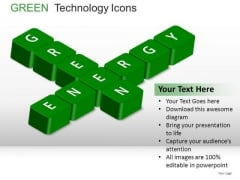 Crossword Green Technology Icons PowerPoint Slides And Ppt Diagram Templates