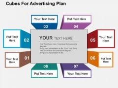 Cubes For Advertising Plan PowerPoint Templates
