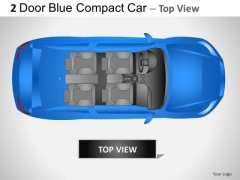 Culture 2 Door Blue Car Top PowerPoint Slides And Ppt Diagram Templates