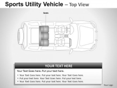 Curve Sports Utility Blue Vehicle PowerPoint Slides And Ppt Diagram Templates