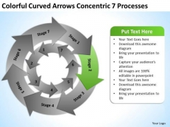Curved Arrows Concentric 7 Processess Ppt Business Plan PowerPoint Templates