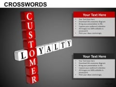Customer Loyalty Crosswords PowerPoint Templates