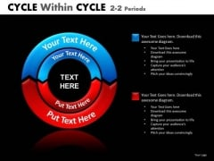 Cycle Diagrams 2 Layers 2 Stages PowerPoint Templates